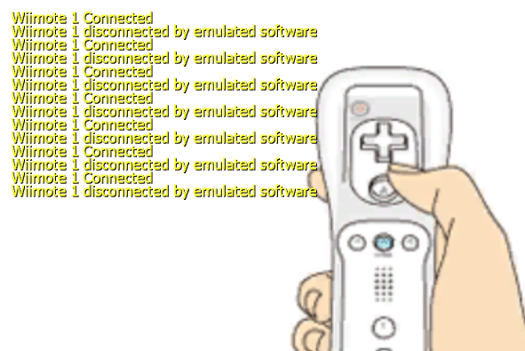 Wiimote 1 disconnected by emulated software