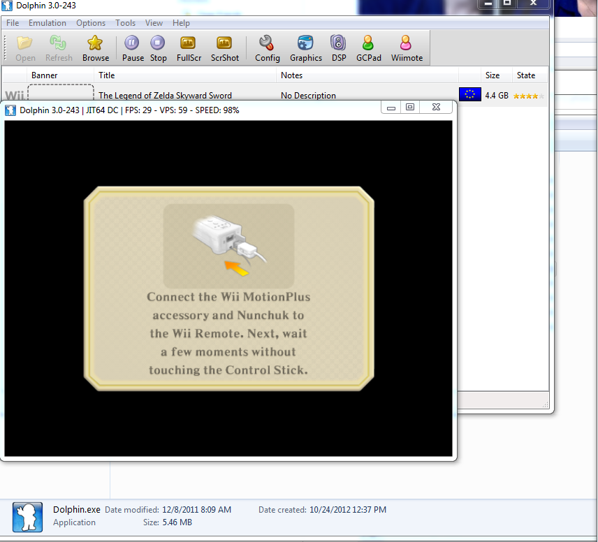 dolphin emulator wii remote plus